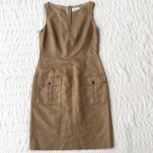 David Meister Linen Blend V Neck Dress 6